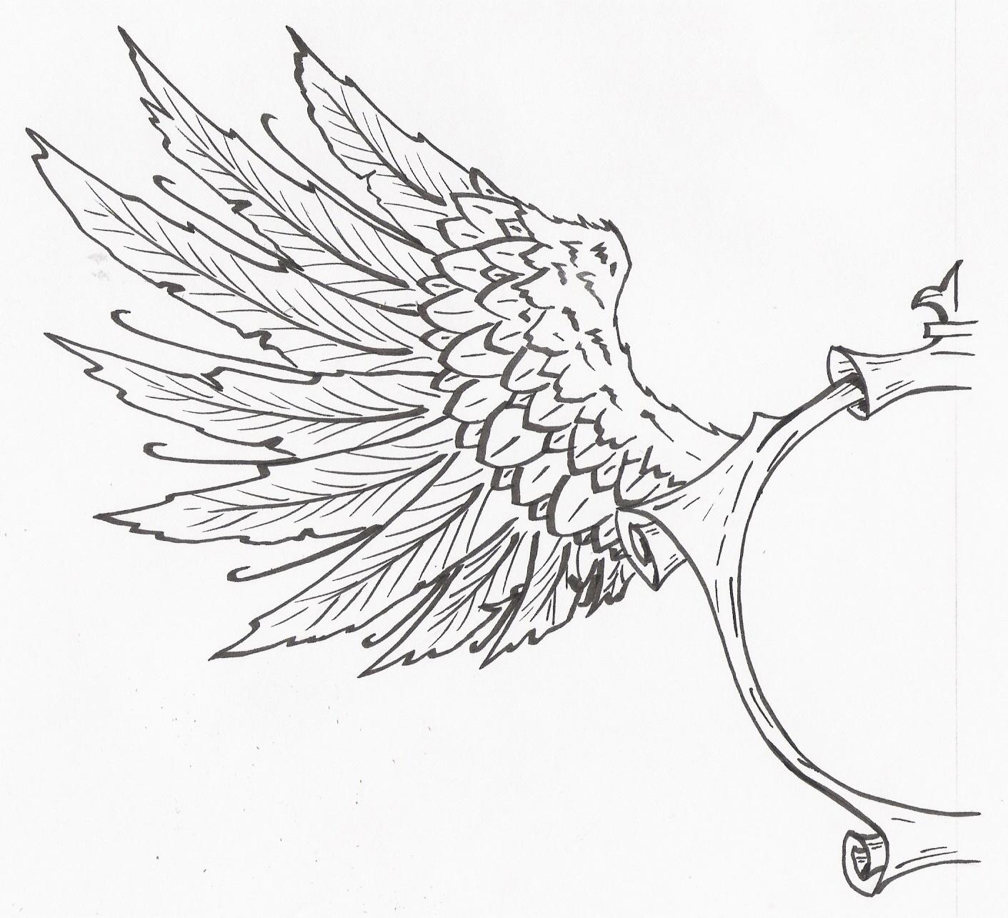 1411x1285 Dead Rose Wings By Scogar94crue