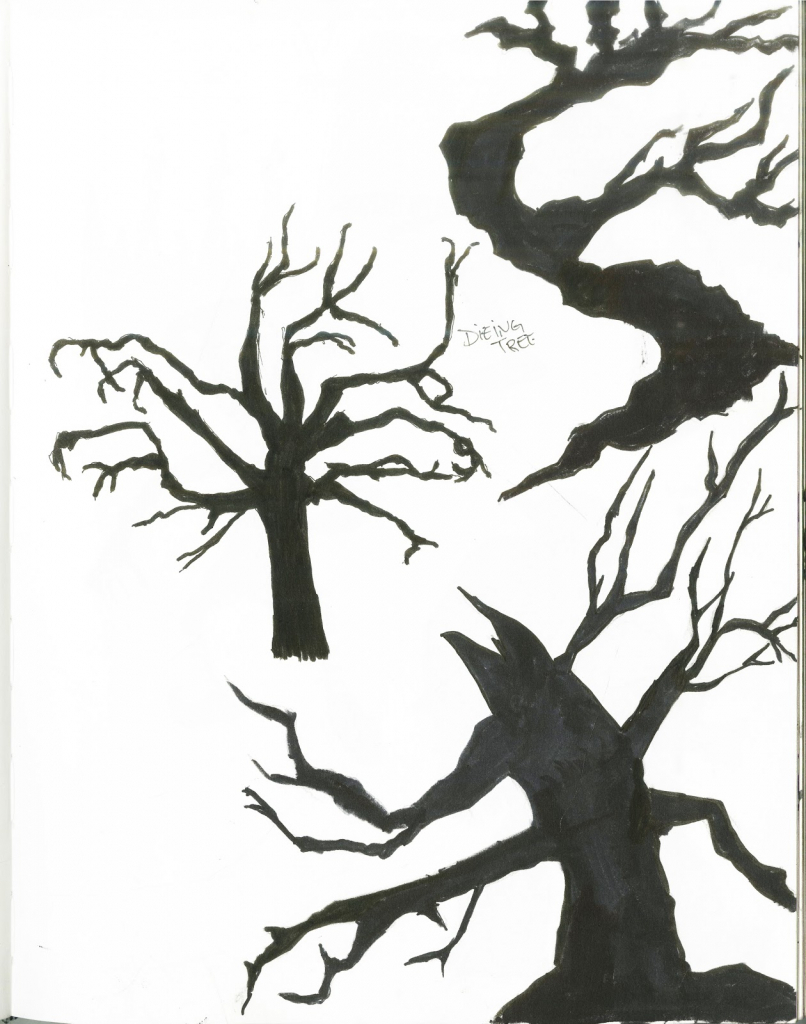 806x1024 Dead Tree Drawing Creepy Dead Tree Drawing Clipart Best Clipart