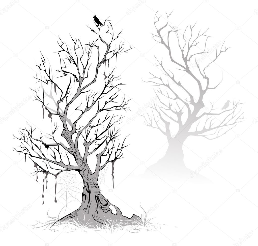 1023x975 Dead Trees Stock Vector Blackmoon979