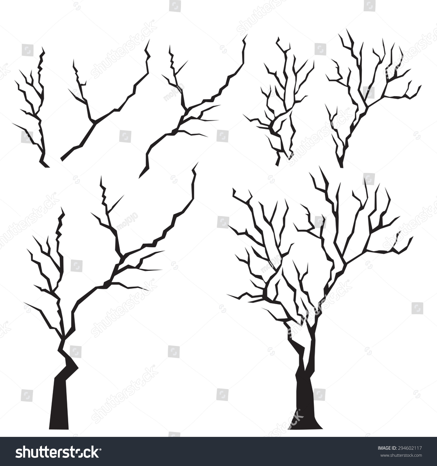 1500x1600 Drawn Dead Tree Tree Branch