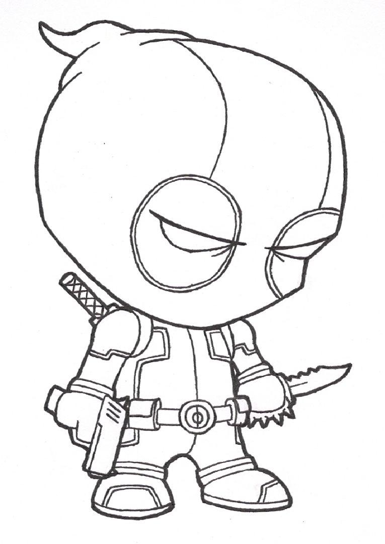Deadpool Chibi Drawing At GetDrawings
