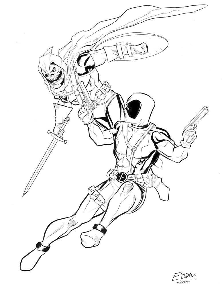 Deadpool Drawing At Getdrawings Free Download