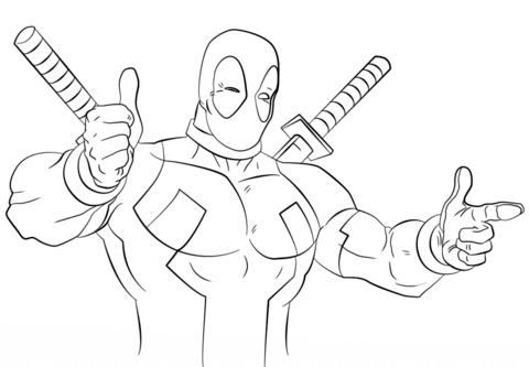 Deadpool Logo Drawing