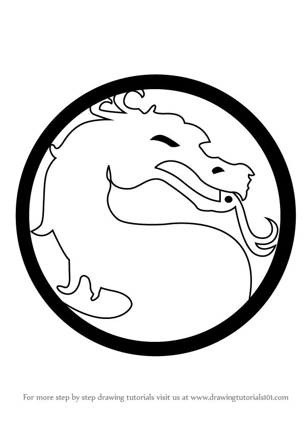 600x846 Learn How To Draw Mortal Kombat Logo (Mortal Kombat) Step By Step