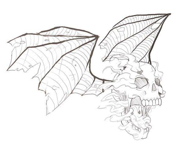 600x482 Cool Deathbat Tattoo. Tattoos Tattoo, Tatoos