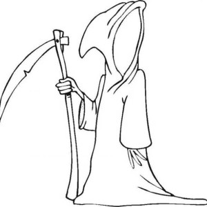 300x300 Ghost, Halloween Death Source Ghost Coloring Page Halloween Death