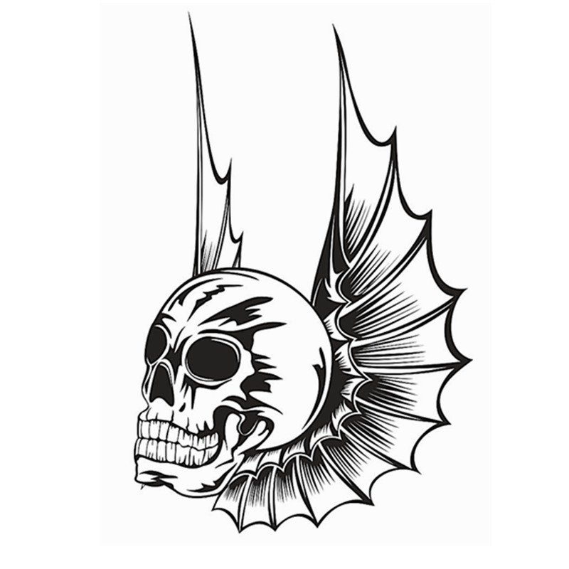 800x800 Skull Halloween Wing Bat Sticker Punk Death Decal Horror Halloween