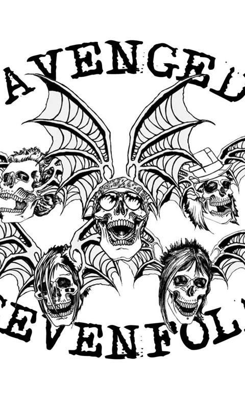 480x800 Avenged Sevenfold Death Bat, Windows, Parede, 1920x1200 Hd