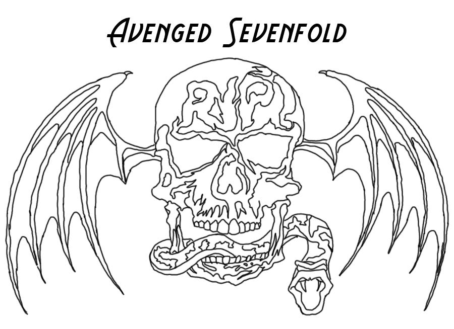 900x654 Avenged Sevenfold Deathbat! By Connorcreates