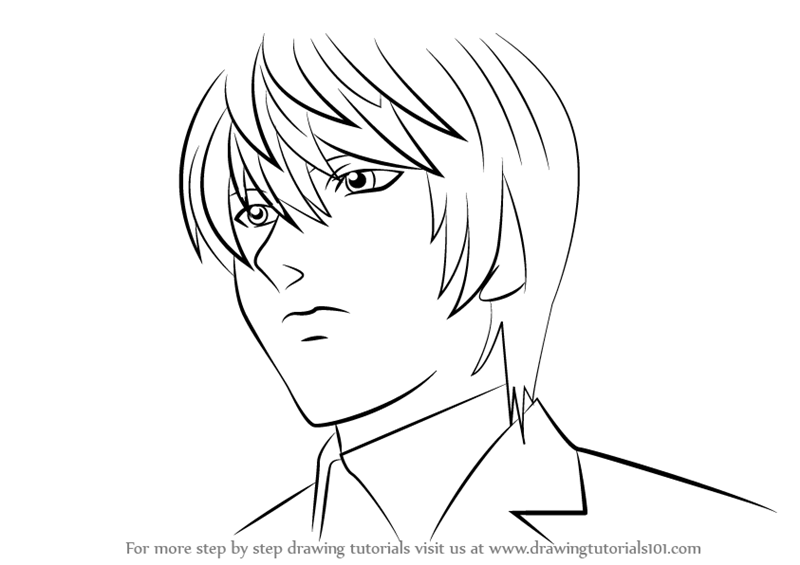 800x565 Learn How To Draw Light Yagami From Death Note (Death Note) Step