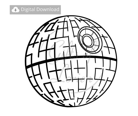 570x480 Death Star Svg Vector Image Png Death Star Decal