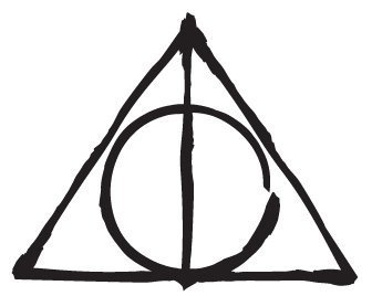 336x268 Deathly Hallows Car Decal In The Style Of T. I. F. F.