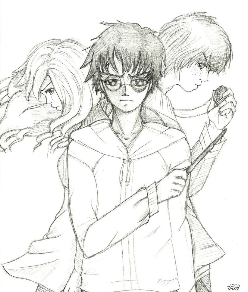 823x970 Harry Potter And The Deathly Hallows By Karumi Soroku