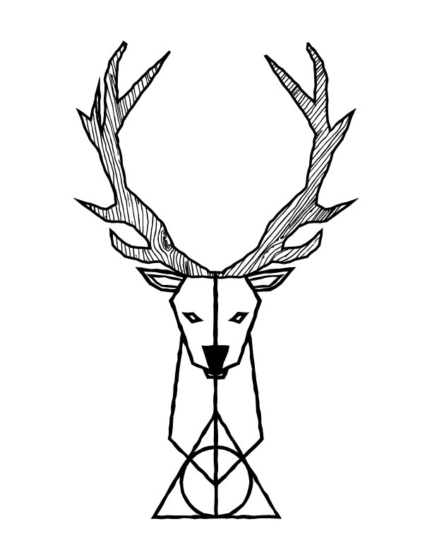 612x792 Tattoo Design By Grant Spanier Harry Potter X Stag Patronus X