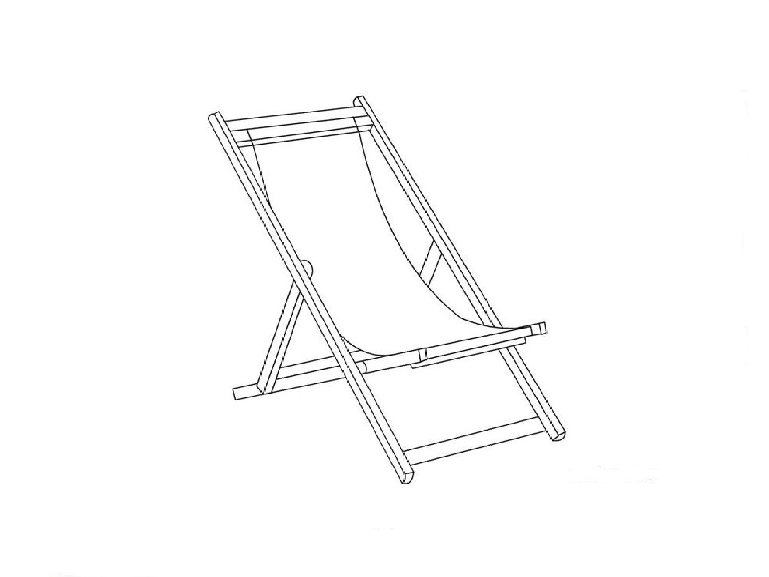 2592x1944 Beach Chair Drawing How To Draw A Deck Chair Real Easy