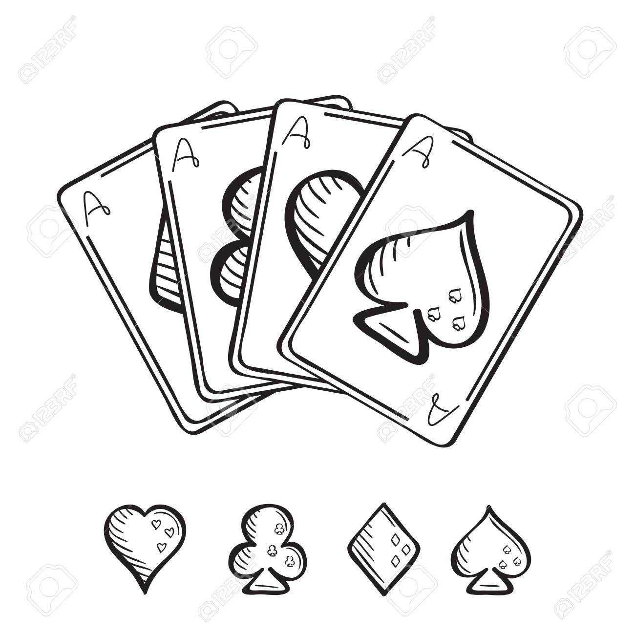 Deck Of Cards Drawing At Getdrawings Com Free For