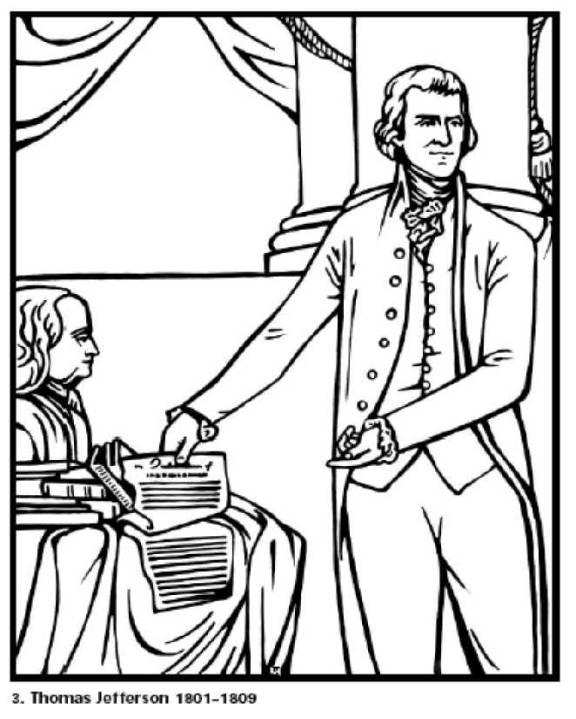 576x719 President Thomas Jefferson Coloring Page. President That