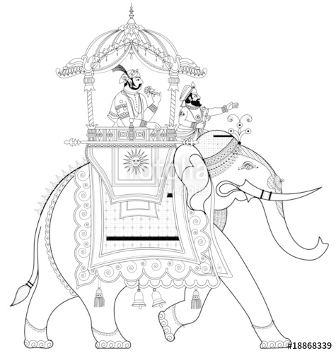475x500 Decorated Indian Elephant Stock Image And Royalty Free Vector