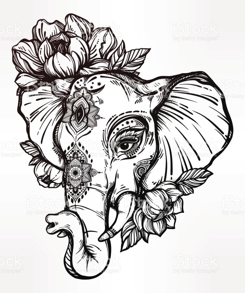 Decorated Elephant Drawing At Getdrawings Free For Personal