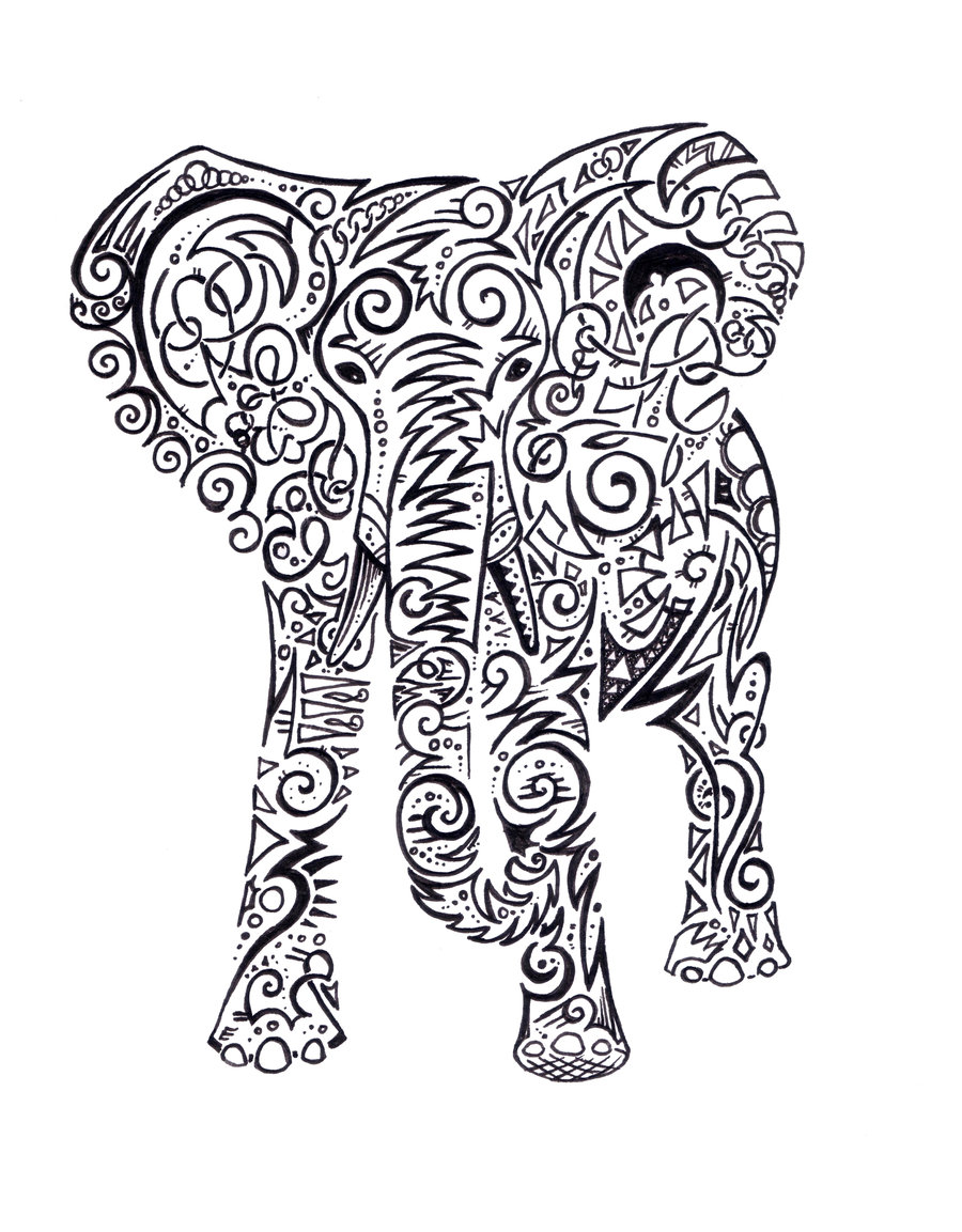 900x1153 Download Tattoo Design Elephant