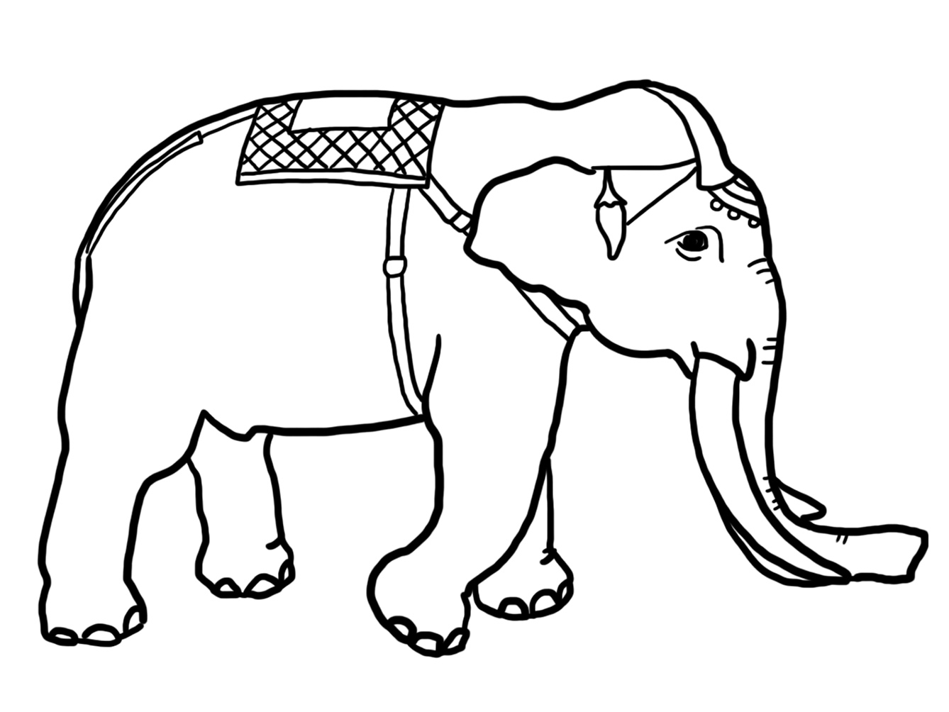 1338x1004 Funny Elephant Coloring Pages