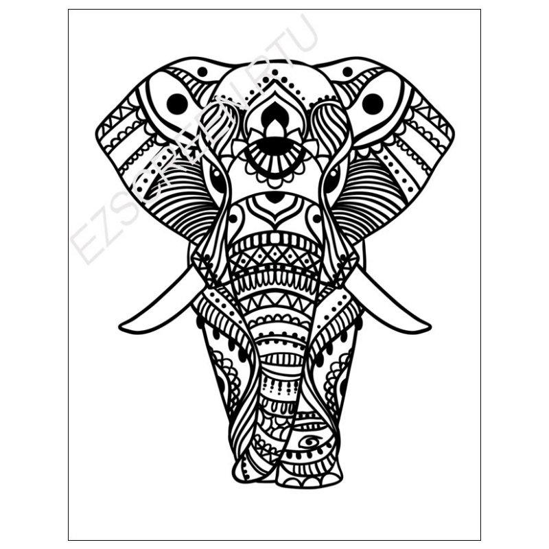 800x800 Diy Tshirt Screen Print Decorated African Elephant Silk Screen