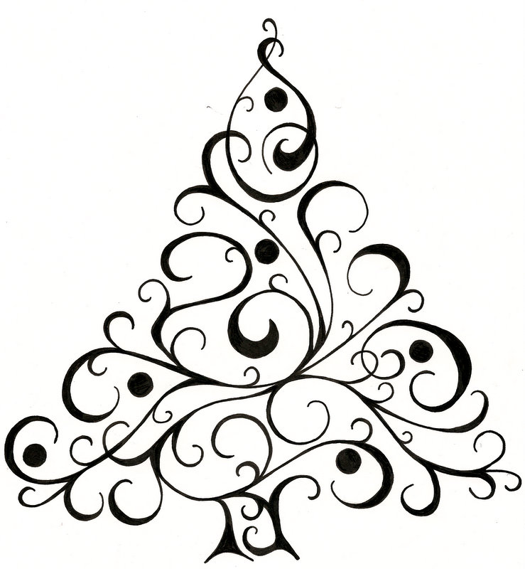 739x800 Christmas Tree Design For Cards