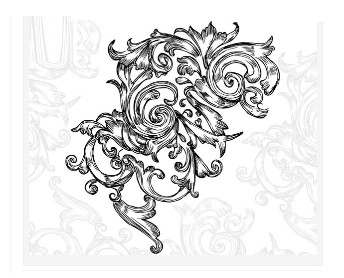 690x557 Swirl Floral Decorative Vector Bing Gallery