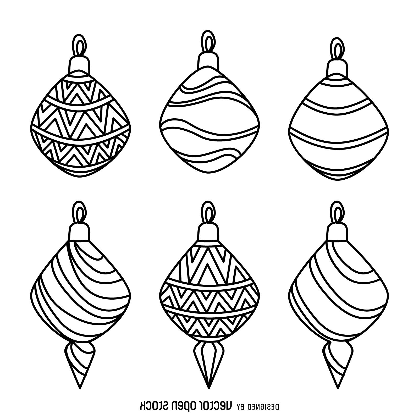 1600x1600 Best Christmas Decoration Outlines Collection Drawing