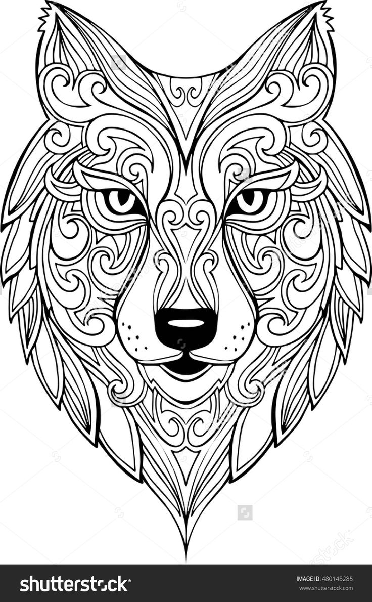 736x1190 Do It Myself Vector Hand Drawn Doodle Wolf Head Illustration