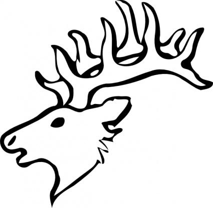 425x416 Deer Head Stencil Vector