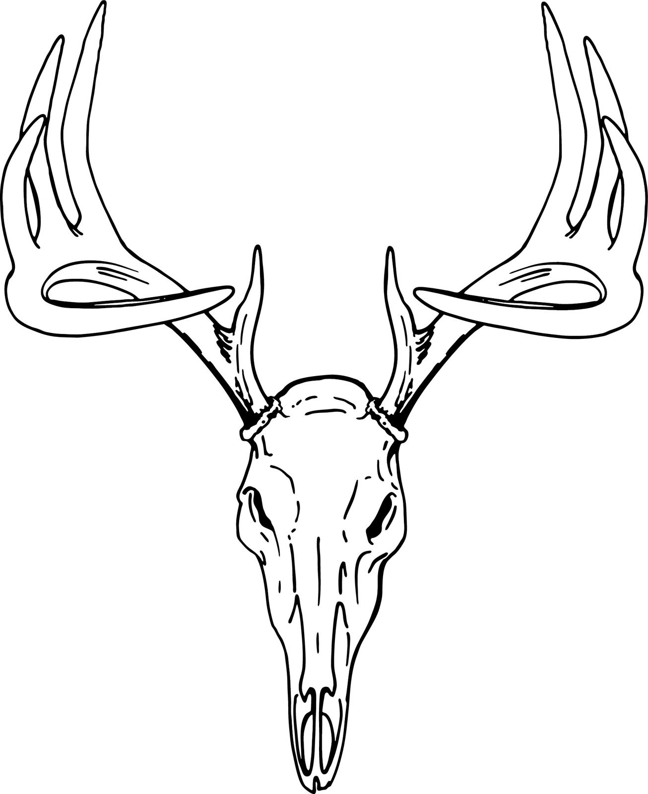 1306x1600 Deer Head Clip Art Free Vector In Open Office Drawing Svg Svg