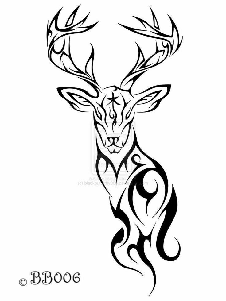736x981 Collection Of Wild Deer Tattoo Design