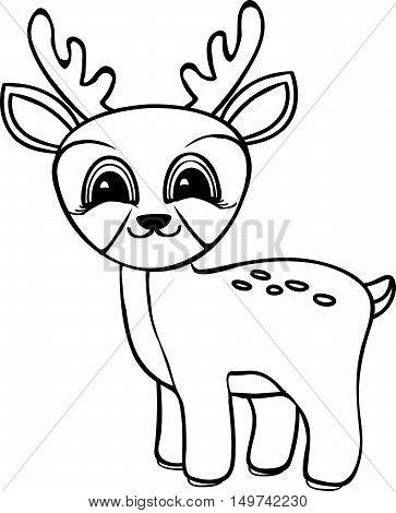 363x470 Funny Cartoon Baby Deer. Coloring Vector Amp Photo Bigstock
