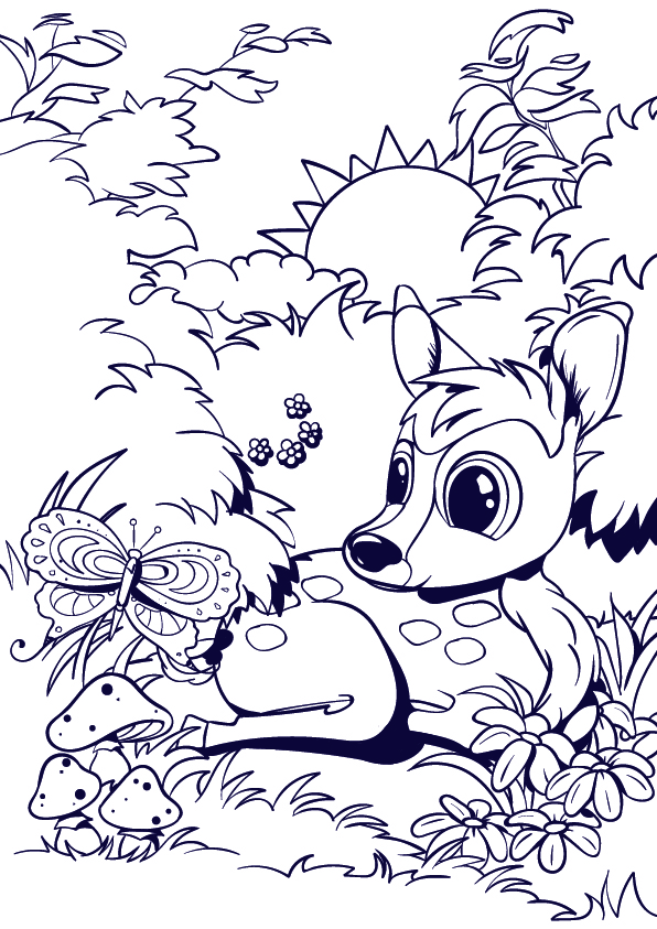 596x843 Learn How To Draw A Deer Cartoon Scene Step By Step Tutorial