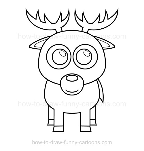 500x522 To Draw A Deer