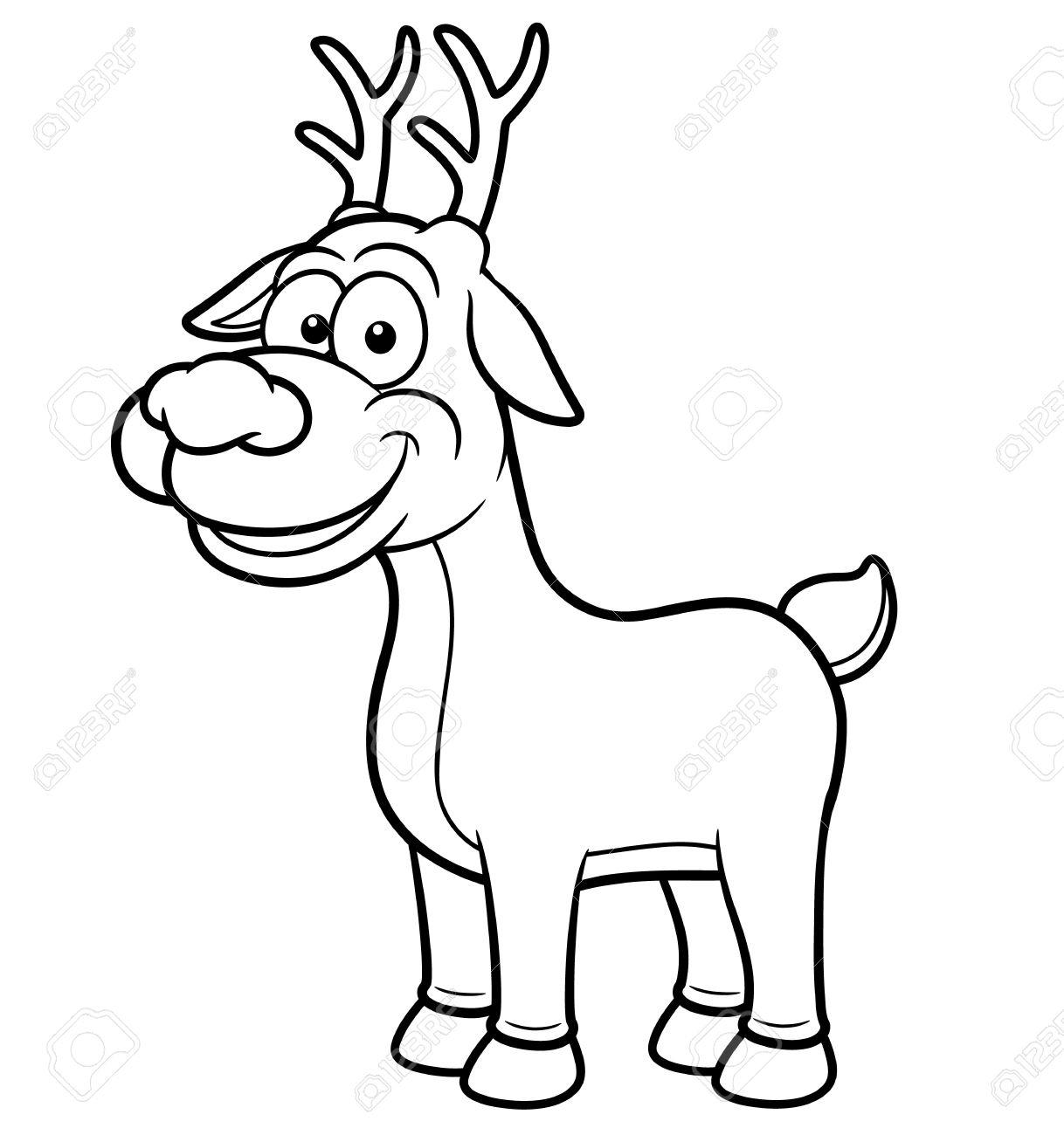 1218x1300 Cartoon Drawing Of A Deer Vector Illustration Of Deer Cartoon