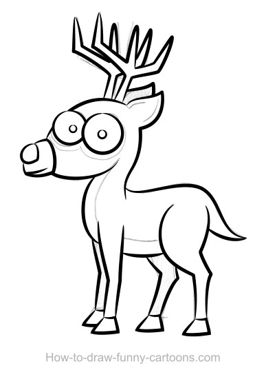 387x547 Deer Drawings (Sketching + Vector)