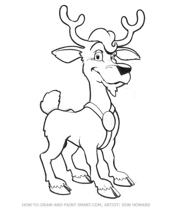550x671 Cartoon Deer