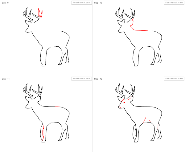 600x495 fpencil how to draw deer for kids step by step