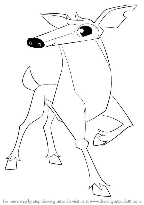 594x844 Learn How To Draw Deer From Animal Jam (Animal Jam) Step By Step