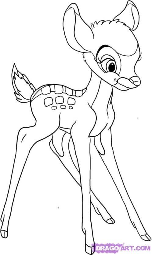 498x835 How To Draw Bambi Merryweather's Cottage Disney Diy