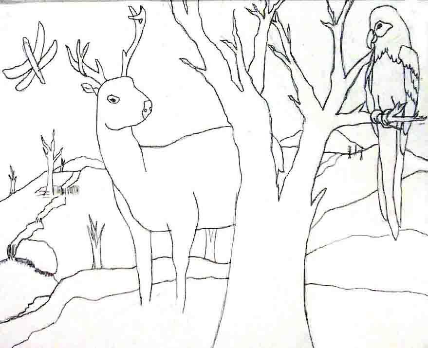 879x715 The Helpful Art Teacher Landscape Painting Tutorial