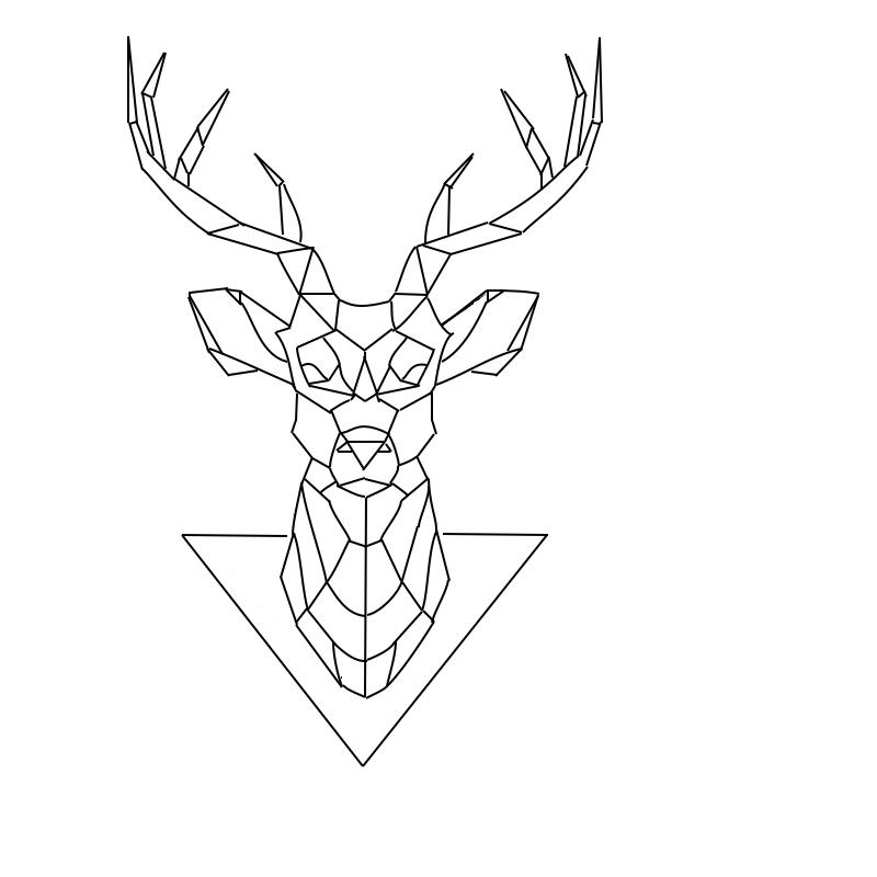 800x800 Deer Tattoo Geometric Tattoo Deer Tattoo And Tattoo