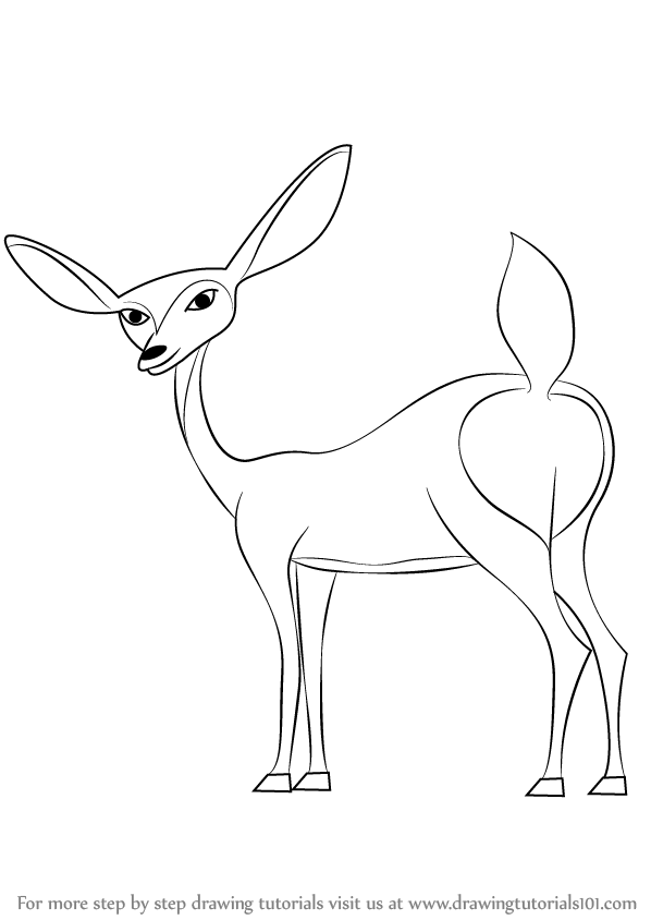 598x844 Learn How To Draw Giselle From Open Season (Open Season) Step By