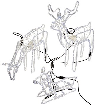 355x355 Werchristmas Pre Lit Large 3d Animated Reindeer Family Christmas