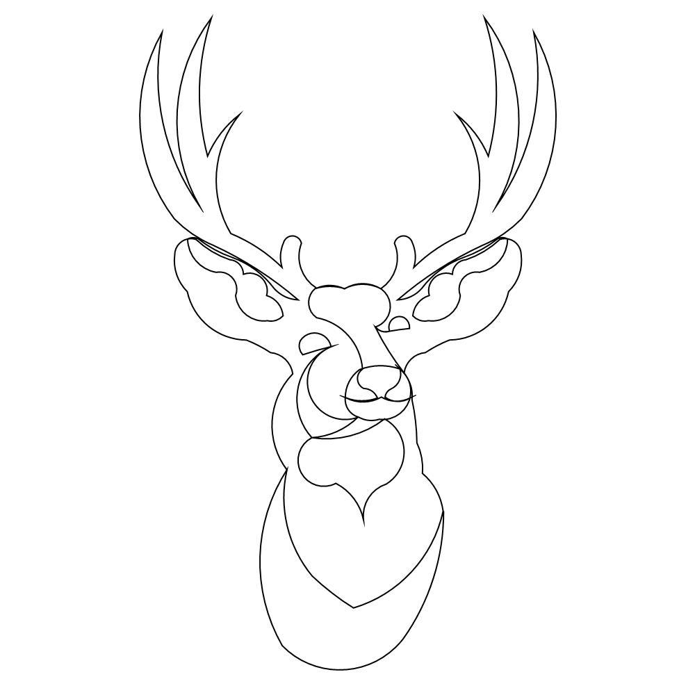Deer Head Drawing at GetDrawings.com | Free for personal use Deer ...