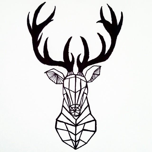 Deer Head Drawings Tumblr Deer Head Drawing Tumb...