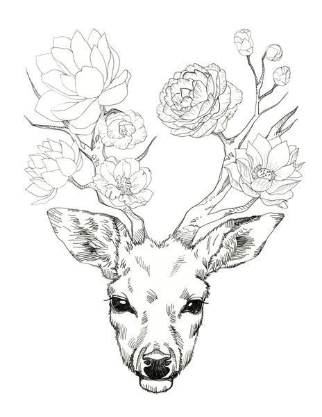 464x600 Something Slightly Similar Under The Boobs. Deer Head On Upper Abs