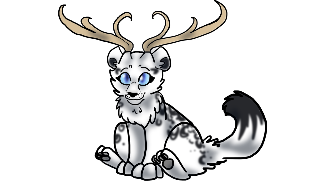 1024x614 Deer Cat Chibi By Pandaflute